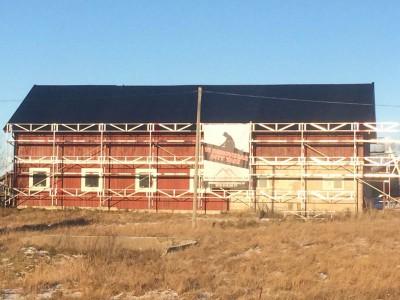 Takrenovering till ekonomibyggnad i Gnesta