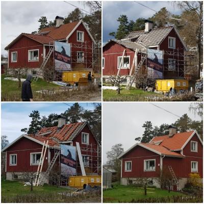 Takläggning Löwensväg 9 i Järna
